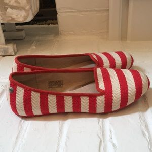 Red Striped Alloway Ugg Flats Size 7